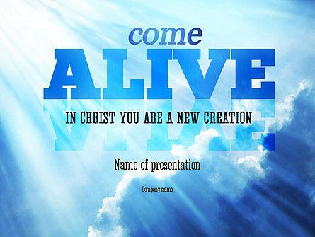 Come Alive PowerPoint Template, 11233, Religious/Spiritual — PoweredTemplate.com