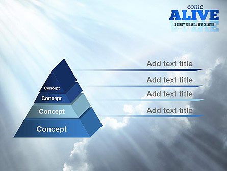 Come Alive PowerPoint Template, Slide 4, 11233, Religious/Spiritual — PoweredTemplate.com