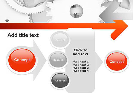 Working Cogwheels PowerPoint Template Slide 17
