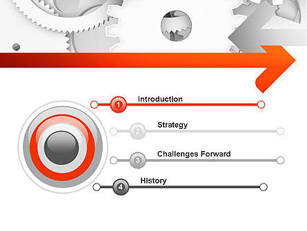 Working Cogwheels PowerPoint Template, Slide 3, 11234, Business Concepts — PoweredTemplate.com