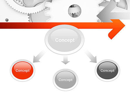 Working Cogwheels PowerPoint Template Slide 4