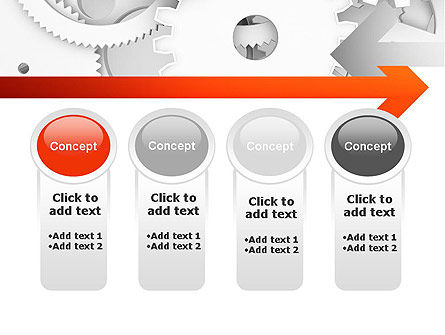 Working Cogwheels PowerPoint Template Slide 5