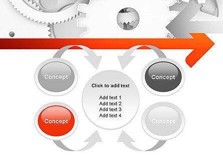 Working Cogwheels PowerPoint Template Slide 6