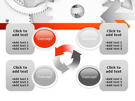 Working Cogwheels PowerPoint Template Slide 9