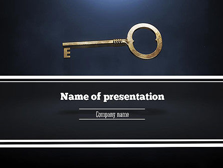 Business Concepts: Key to All Doors PowerPoint Template #11235