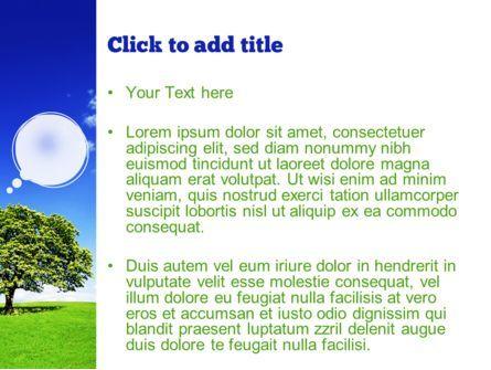 Tree on Horizon PowerPoint Template, Slide 3, 11239, Nature & Environment — PoweredTemplate.com