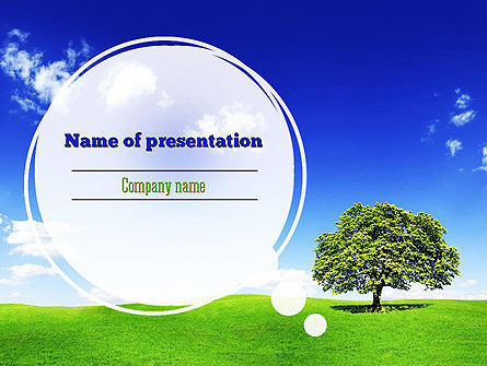 Tree on Horizon PowerPoint Template, 11239, Nature & Environment — PoweredTemplate.com