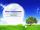 Nature & Environment: Tree on Horizon PowerPoint Template #11239