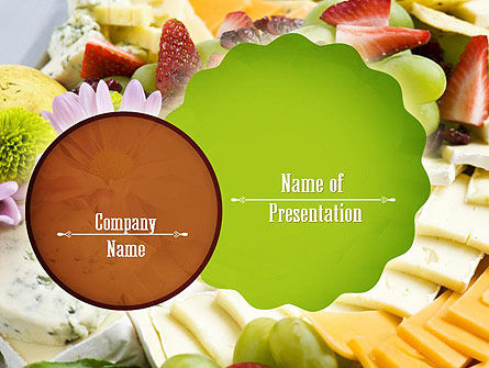 Baby Shower Food PowerPoint Template