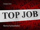 Careers/Industry: Top job PowerPoint Vorlage #11243