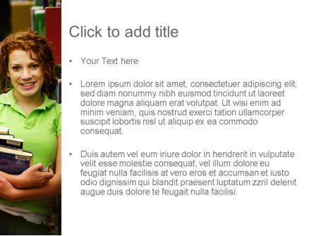 Successful Student PowerPoint Template, Slide 3, 11244, Education & Training — PoweredTemplate.com