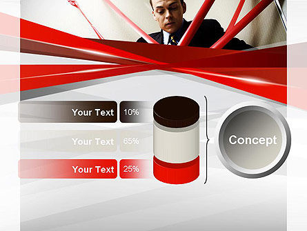 Red Tape PowerPoint Template Slide 11