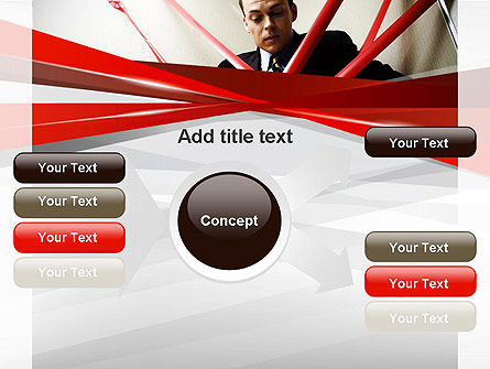 Red Tape PowerPoint Template Slide 14