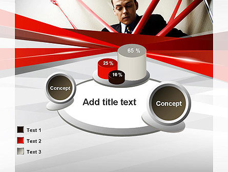 Red Tape PowerPoint Template Slide 16