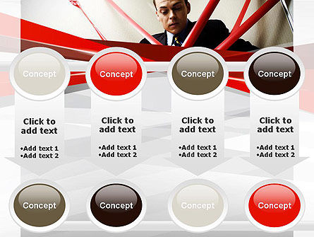 Red Tape PowerPoint Template Slide 18