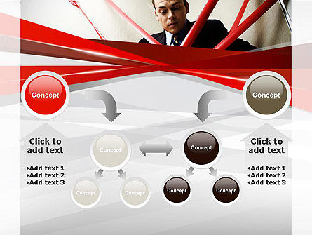 Red Tape PowerPoint Template Slide 19