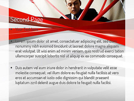 Red Tape PowerPoint Template Slide 2