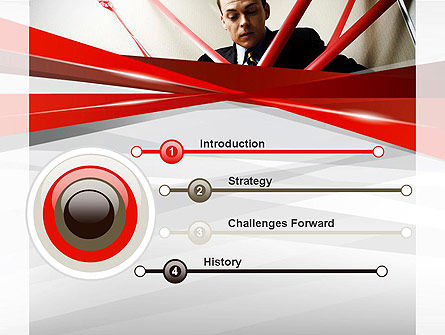Red Tape PowerPoint Template Slide 3
