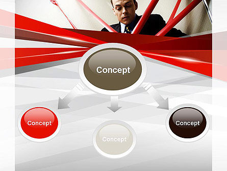 Red Tape PowerPoint Template, Slide 4, 11245, Consulting — PoweredTemplate.com