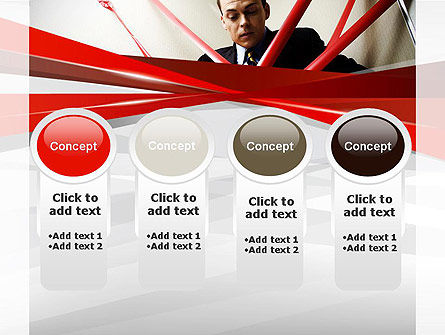 Red Tape PowerPoint Template Slide 5