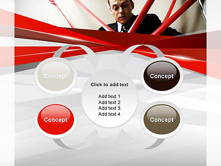 Red Tape PowerPoint Template Slide 6