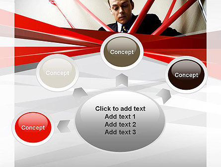 Red Tape PowerPoint Template Slide 7