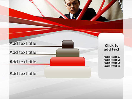 Red Tape PowerPoint Template Slide 8