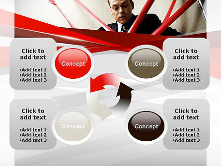 Red Tape PowerPoint Template Slide 9