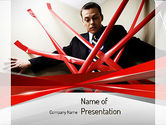 Consulting: Red klebeband PowerPoint Vorlage #11245