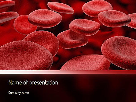 RBC Cells PowerPoint Template, 11247, Medical — PoweredTemplate.com