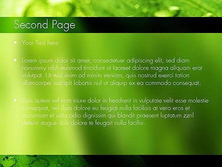 Green Organization PowerPoint Template, Slide 2, 11248, Nature & Environment — PoweredTemplate.com