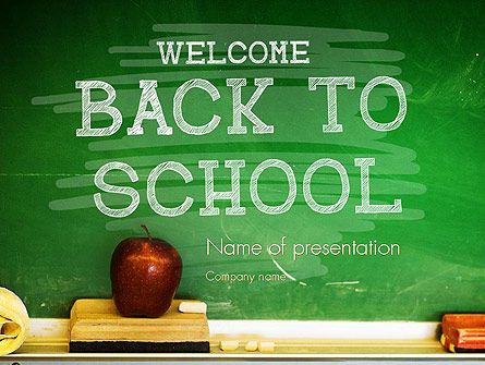 School Chalkboard PowerPoint Template, 11250, Education & Training — PoweredTemplate.com