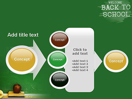 School Chalkboard PowerPoint Template Slide 17