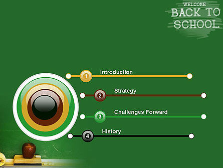 School Chalkboard PowerPoint Template, Slide 3, 11250, Education & Training — PoweredTemplate.com