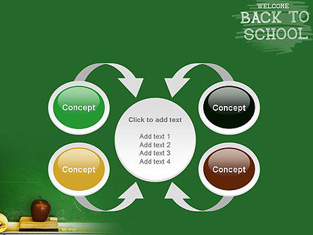 School Chalkboard PowerPoint Template Slide 6