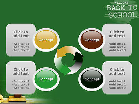 School Chalkboard PowerPoint Template Slide 9