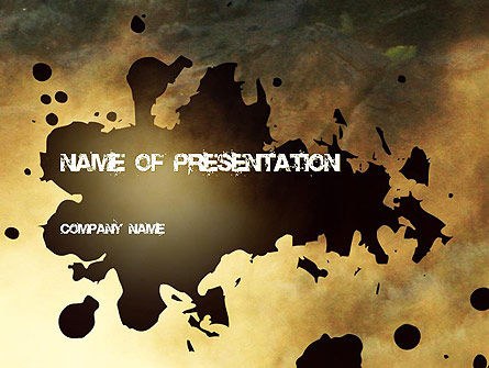 Stain PowerPoint Template, 11251, Abstract/Textures — PoweredTemplate.com