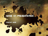 Abstract/Textures: Stain PowerPoint Template #11251