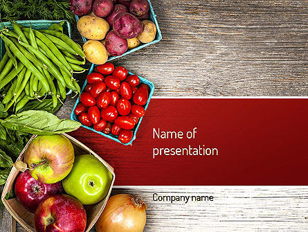 fruit and veg powerpoint template, backgrounds | 11252, Modern powerpoint