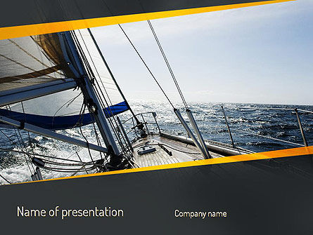 Careers/Industry: The Bow of a Boat PowerPoint Template #11254