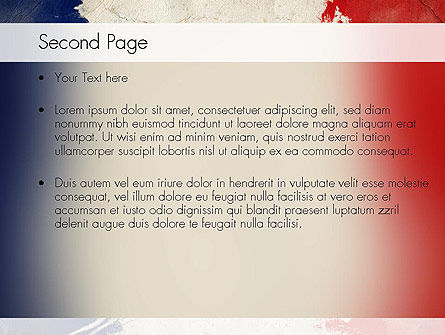 France Presentation PowerPoint Template, Slide 2, 11256, Flags/International — PoweredTemplate.com