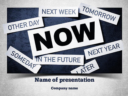 Stop Procrastinating PowerPoint Template, 11257, Business Concepts — PoweredTemplate.com