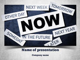 Business Concepts: Stop Procrastinating PowerPoint Template #11257