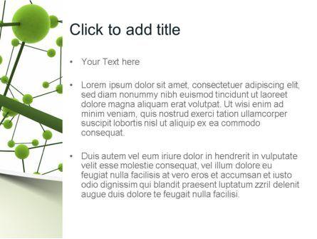Green Network PowerPoint Template, Slide 3, 11258, Technology and Science — PoweredTemplate.com