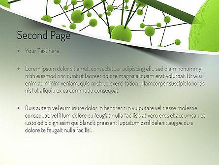 Green Network PowerPoint Template Slide 2