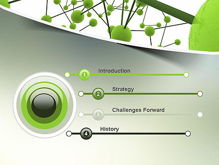 Green Network PowerPoint Template, Slide 3, 11258, Technology and Science — PoweredTemplate.com