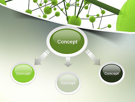 Green Network PowerPoint Template, Slide 4, 11258, Technology and Science — PoweredTemplate.com