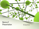 Technology and Science: Green Network PowerPoint Template #11258