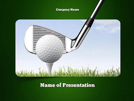 Golf Tournament PowerPoint Template, 11259, Sports — PoweredTemplate.com