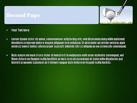 Golf Tournament PowerPoint Template, Slide 2, 11259, Sports — PoweredTemplate.com
